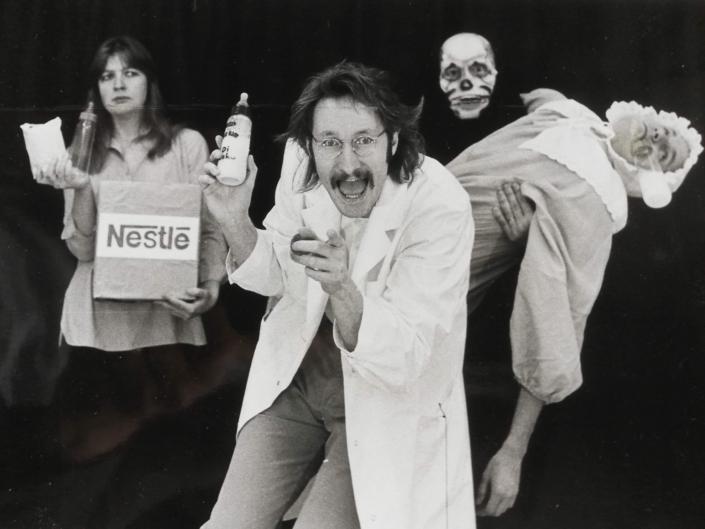"""Åsa Eek Engquist som Sara i """"Du måste väl förstå att jag är orolig!"""" av och med """"U-gruppen & Teatersällskapet"""" 1983-1987"""